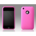 More Swirling Series Silicone Case Pink for iPhone 3G/3GS (AP05-001PNK)